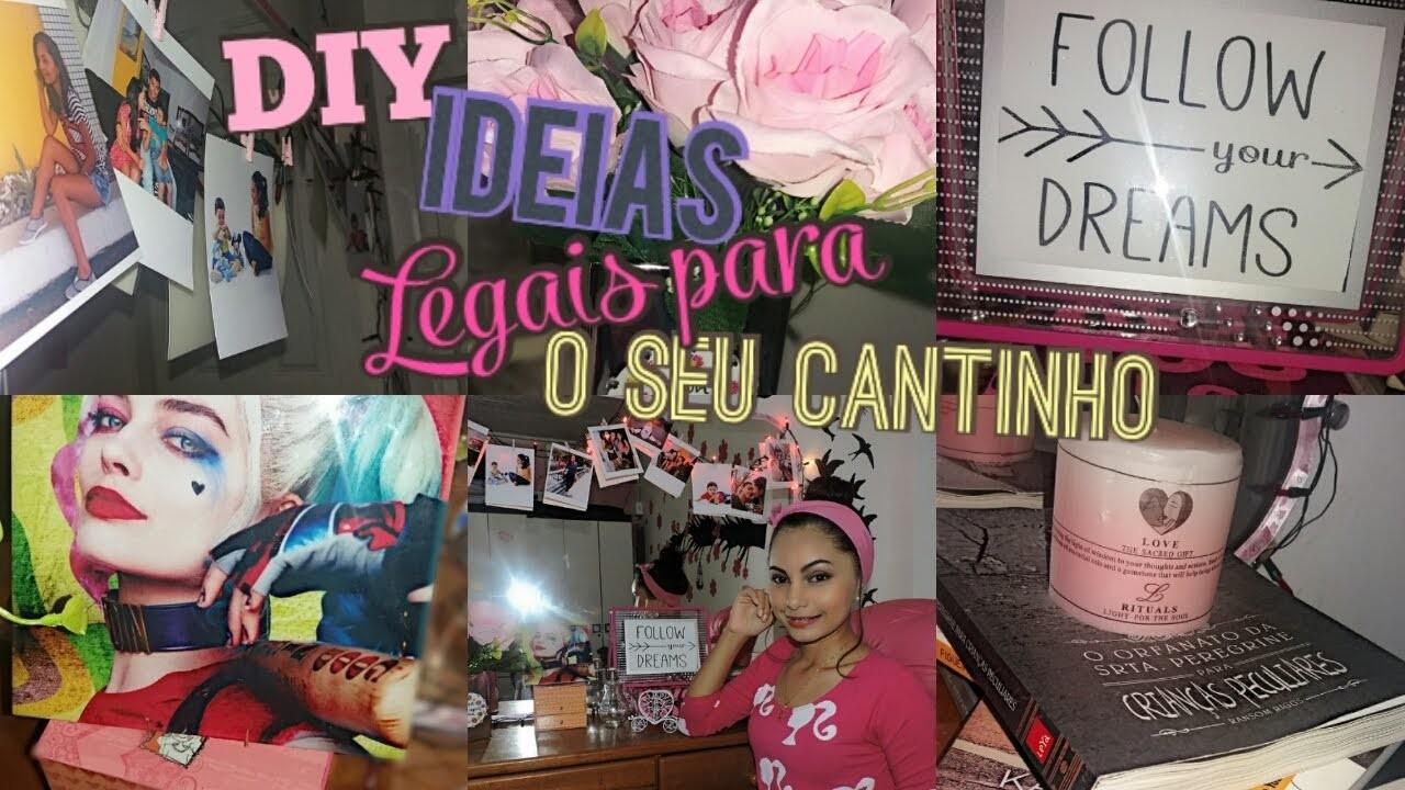 DIY: IDEIAS PARA DECORAR SEU CANTINHO PREFERIDO | RAILLEN MONTEZE