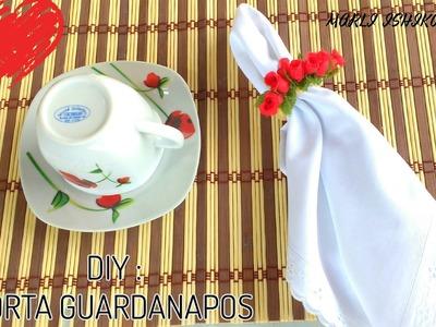 DIY: PORTA GUARDANAPOS COM MINI ROSAS