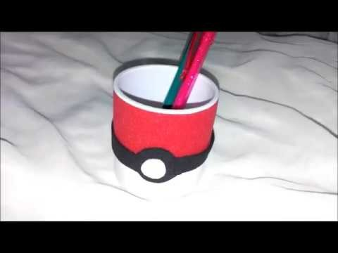 DIY - PORTA LAPIS DE POKEBOLA