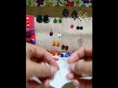 Com fazer brinco de flor de material reciclado