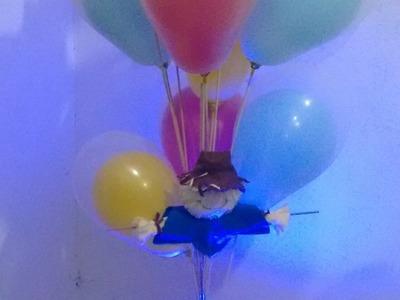 Decoração com balões efeito gás hélio