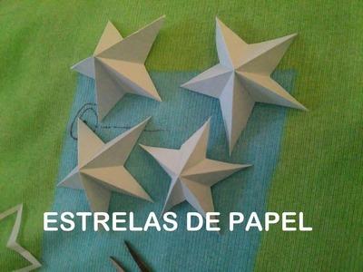 ESTRELA DE PAPEL 5 PONTAS ORIGAMI