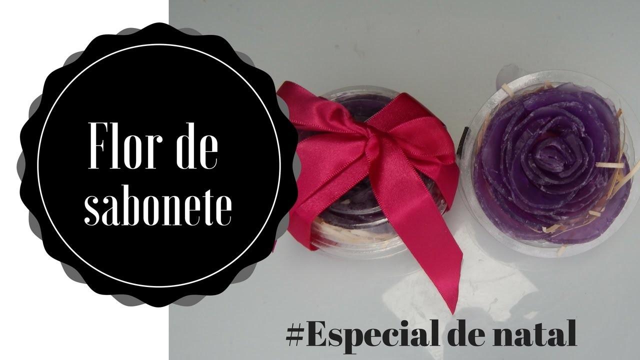 Flor de sabonete #especial de natal #divando com pouco
