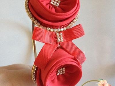 Passo a passo: Tiara Carinha de anjo 2 by Tatiana Karina tutorial,diy (fabric flower)