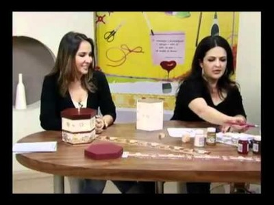 Porta Panetone - Artesã Marisa Magalhães - Aquarela Brasil Tintas - parte 1.2