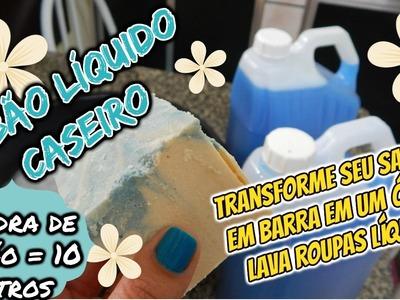 SABÃO LÍQUIDO CASEIRO (LAVA ROUPAS) 10 LITROS. MUITO FÁCIL