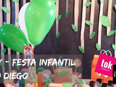 DIY - Decoração de Festa Infantil do Diego