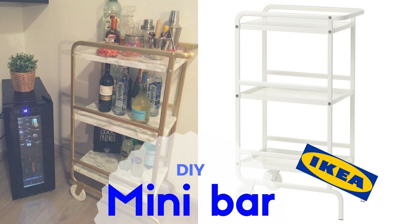 diy mini bar ikea sunnresta barzinho brunnacom2ns. Black Bedroom Furniture Sets. Home Design Ideas