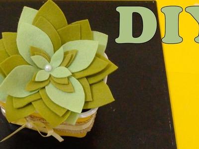 Do Lixo ao Luxo : Vaso de Flor com Pote de Margarina - Artesanato Reciclar