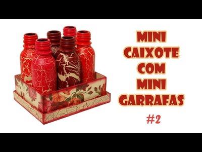 Mini Caixinha com Mini Garrafas Recicladas ( ARTESANATO, DIY, RECICLAGEM )