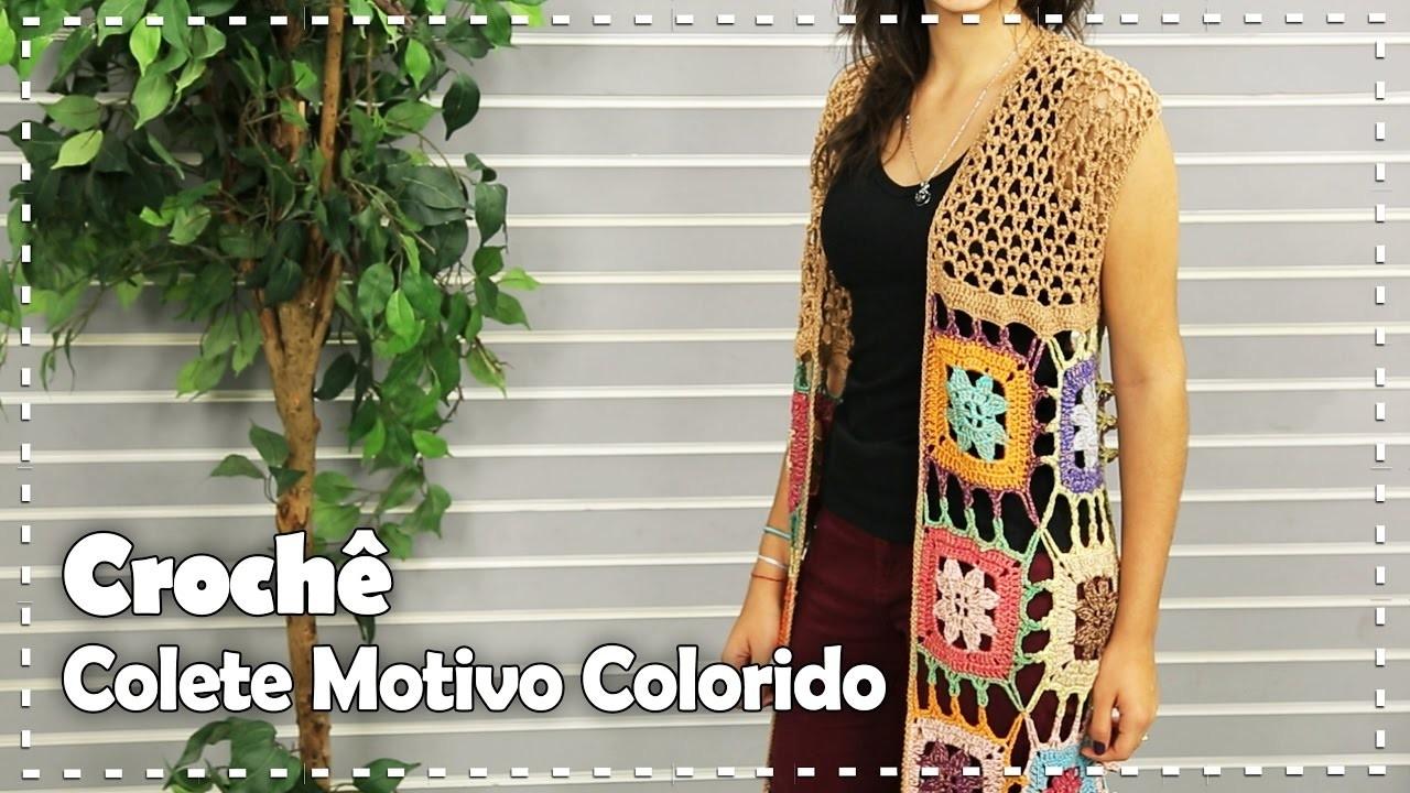 COLETE COLORIDO - DIY - Suzete Lemos   Fazendo Arte