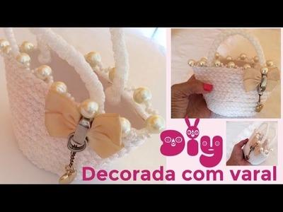 DIY - BOLSA FEITA COM VARAL E POTE DE SORVETE para BABY ALIVE - Risoleta