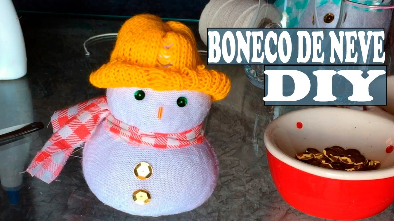DIY- Boneco de neve