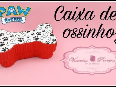 DIY- Caixinha formato de osso ( Lembrancinha patrulha canina ou Dalmatas) - Vanessa Pereira