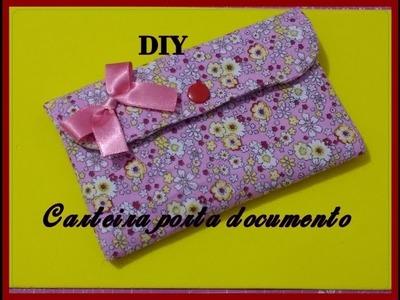 DIY. . Carteira porta Documentos ( passo a passo)