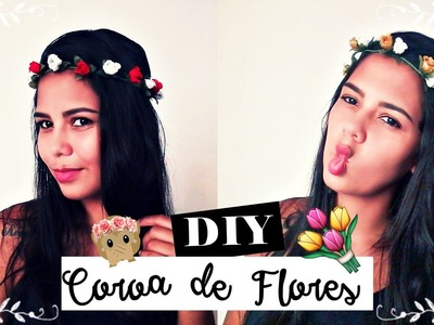 DIY: Como Fazer Coroa de Flores ????????