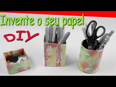 DIY  papel - Invente o seu papel- organizadores