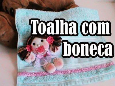 DIY:toalha de boca com boneca