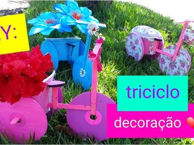 DIY: Triciclo de CD para decoração.