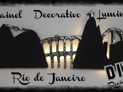 Light Decor ♻ DIY ♻ PAINEL  LUMINOSO  ♻ Reciclado Papelão