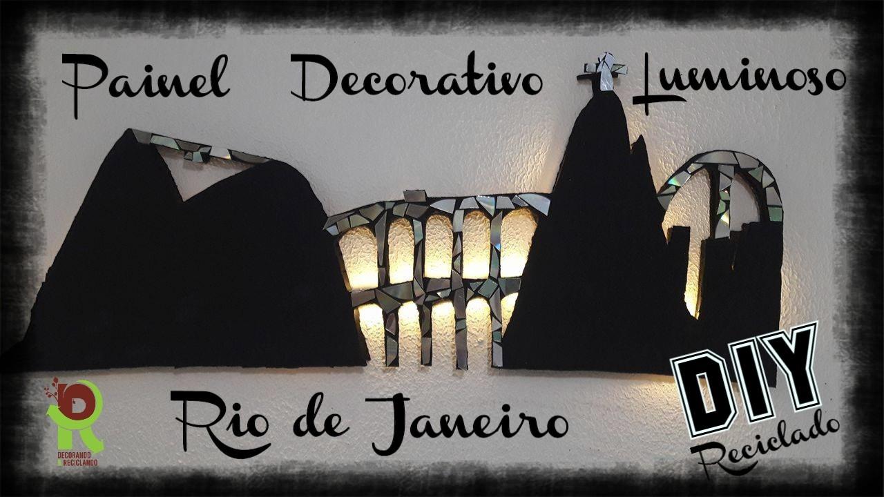 Light Decor ♻ DIY ♻ PAINEL  LUMINOSO  ♻ Reciclado Papelão