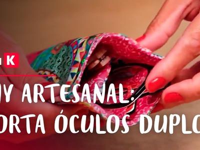 Porta óculos duplo DIY: bolsas e acessórios casuais | eduK.com.br cursos online