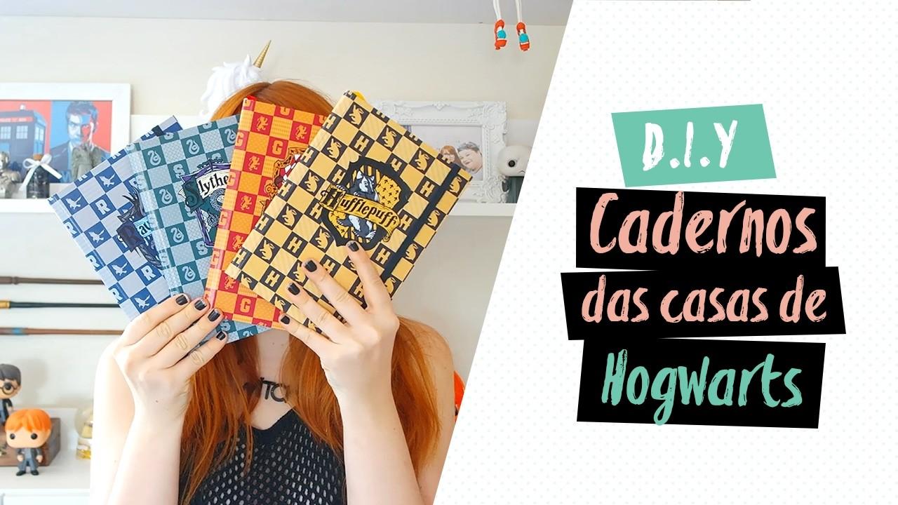 DIY: Cadernos das casas de Hogwarts | Volta às Aulas