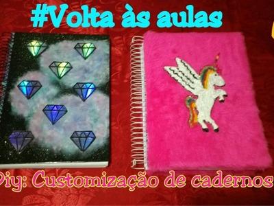 DIY: Customizando cadernos, GALÁXIA e UNICÓRNIO #Voltaàsaulas