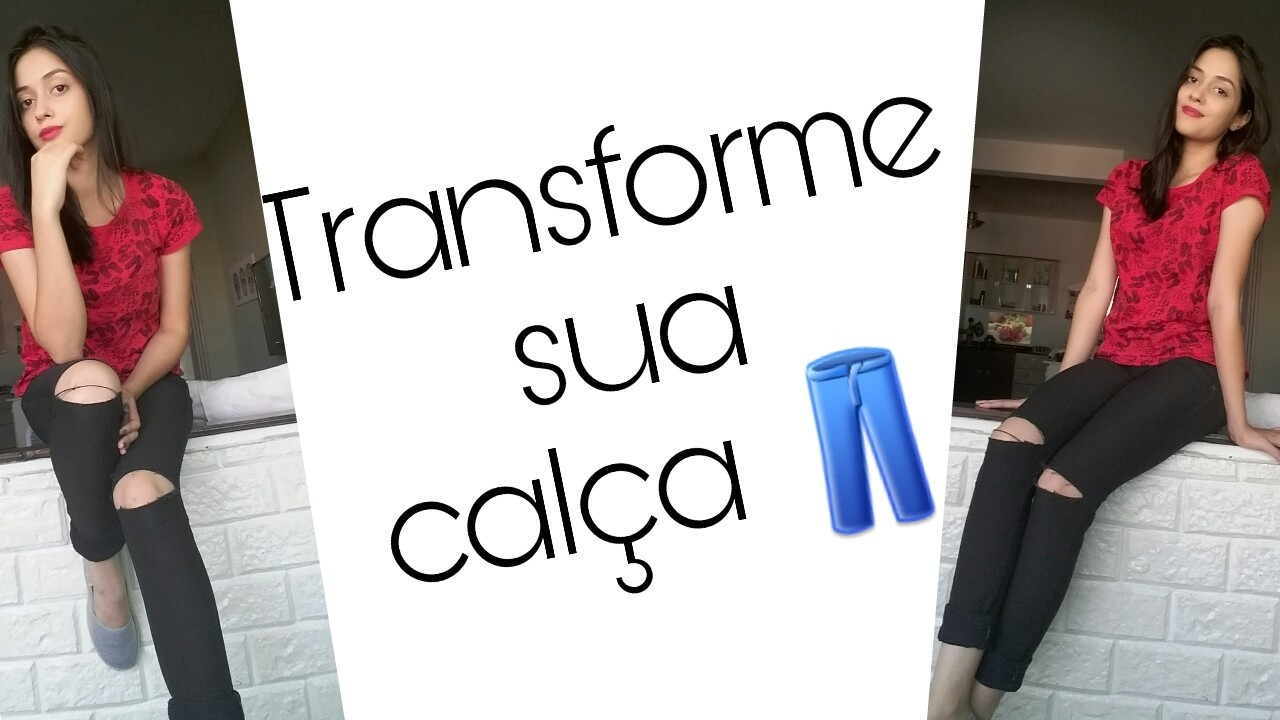 DIY - Customizando calça sem graça ♡