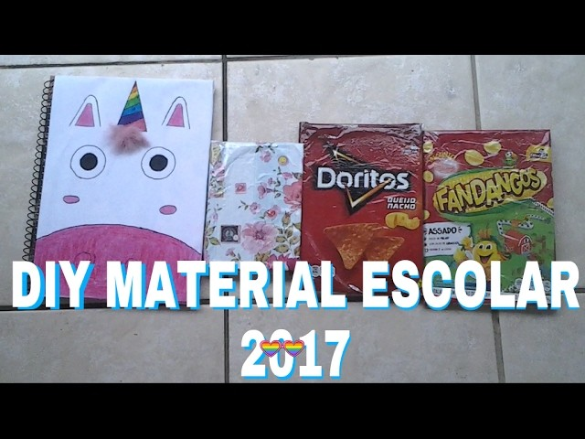 DIY MATERIAL ESCOLAR 2017