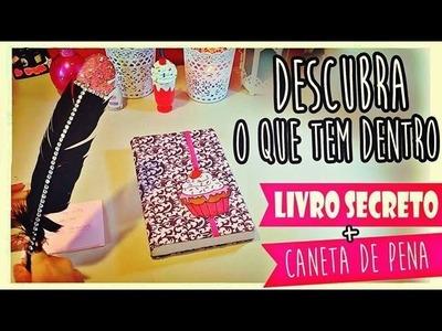 DIY: Material escolar - Livro Secreto e Caneta de Pena