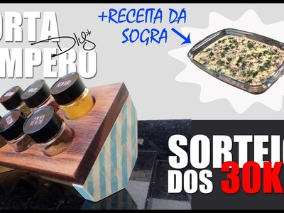 DIY - Porta Tempero + Receita do Filet Mignon da Sogra + SORTEIO  30K