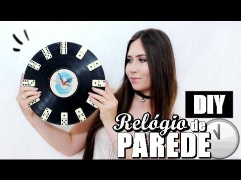 DIY: Relógio de parede c. disco de vinil