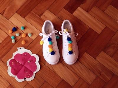DIY Taquilla: Customizando Tênis com Mini Pompom