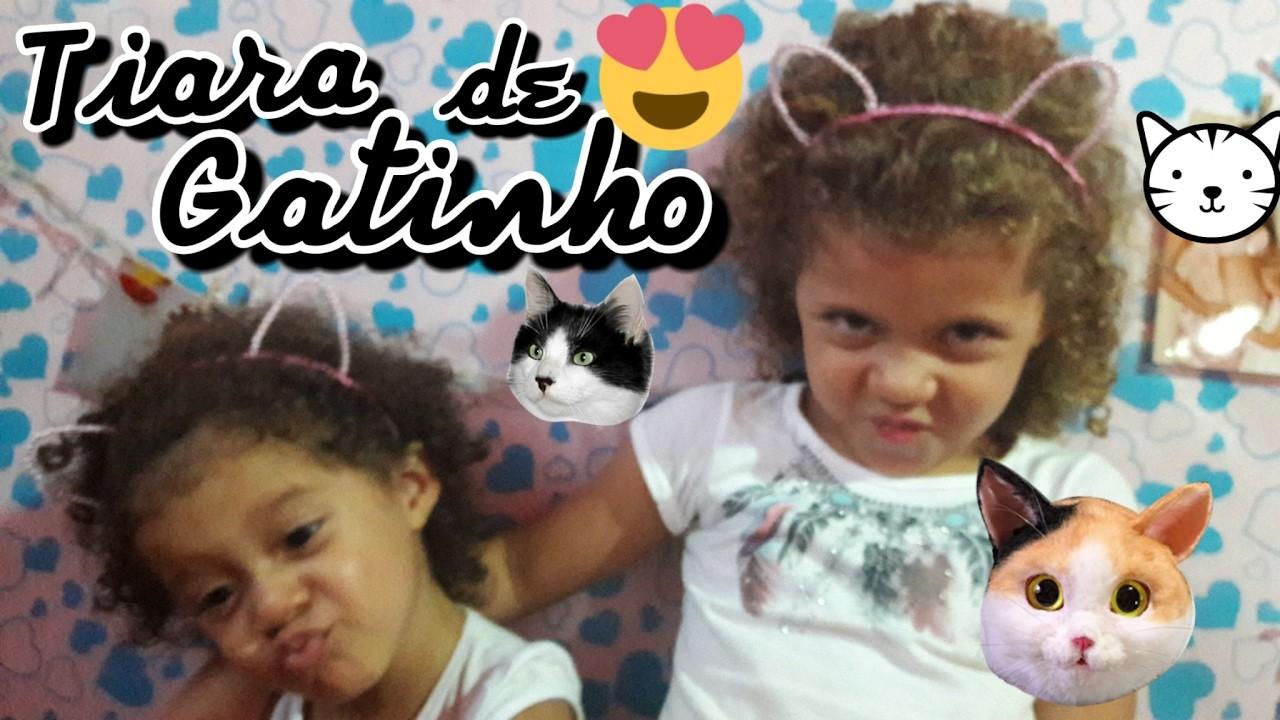 DIY   Tiara de Gatinho com Pérolas