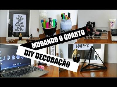 MUDANDO A DECORAÇÃO DO QUARTO • DIY