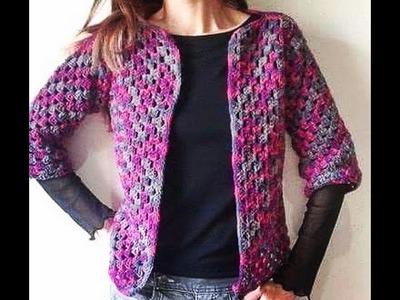 Casaco Barroco em Croche Meia Estação. Crochet Coat. Crochet Cardigan
