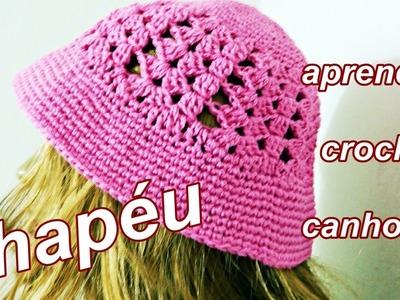 Chapéu em Crochê | Como Fazer | Canhotos