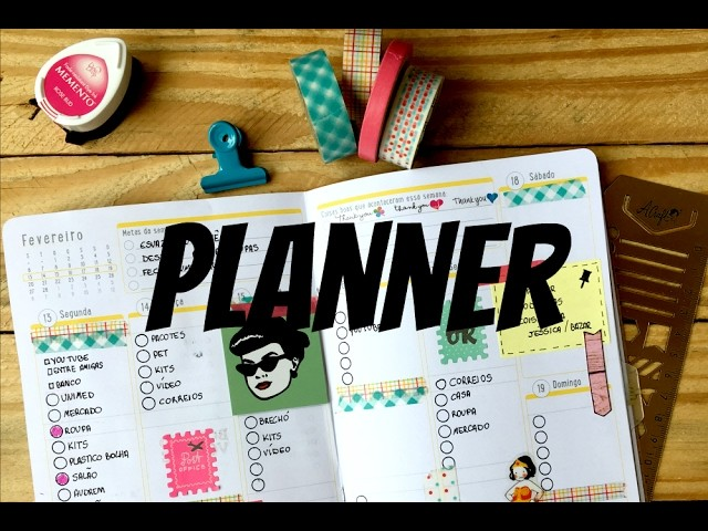 Como decorar a semana no planner 2017 #4