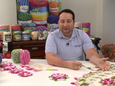 Crochetando com EuroRoma e Marcelo Nunes - Flor Bergamota