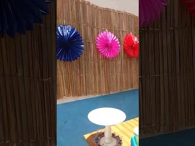 Decoração de festa de piscina