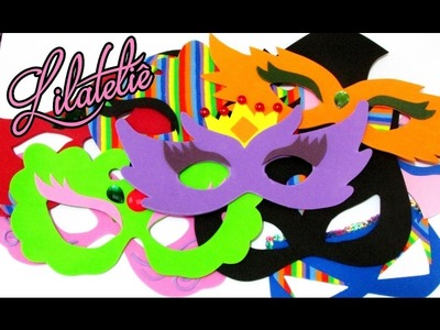 DIY 10 Máscaras pra você arrasar no carnaval #Lilateliê