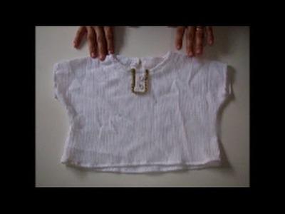 DIY: Blusa com manga simples - molde de 1 a 6 anos