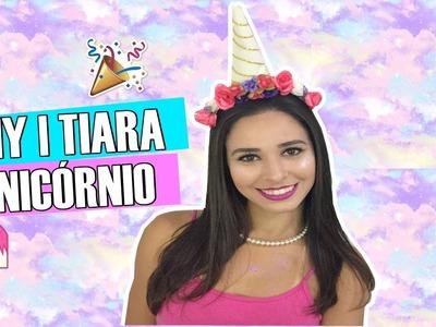 DIY | COMO FAZER TIARA CHIFRE DE UNICÓRNIO ????
