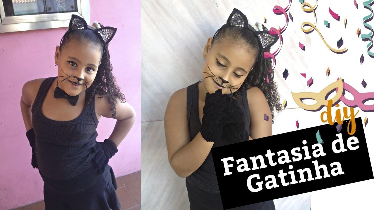 DIY Fantasia de Gatinha (Infantil e Adulto) I CARNAVAL