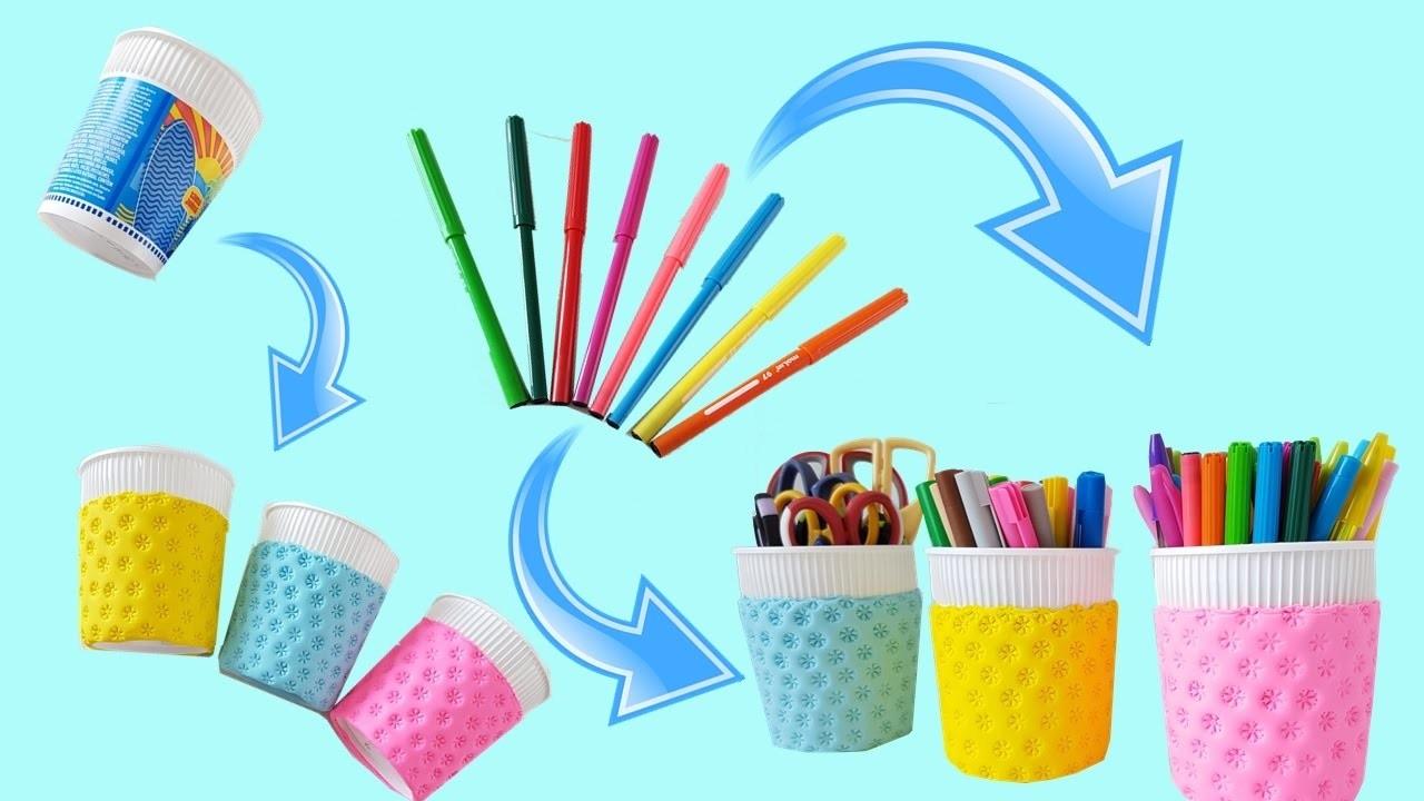 DIY | Ideia Incrível + Reciclagem Fácil Usando Canetinha| Decoração e utilidade
