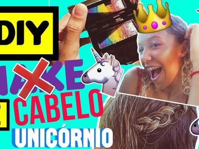 DIY ILUMINADOR E CABELO UNICÓRNIO!! | Lays Araújo ♥