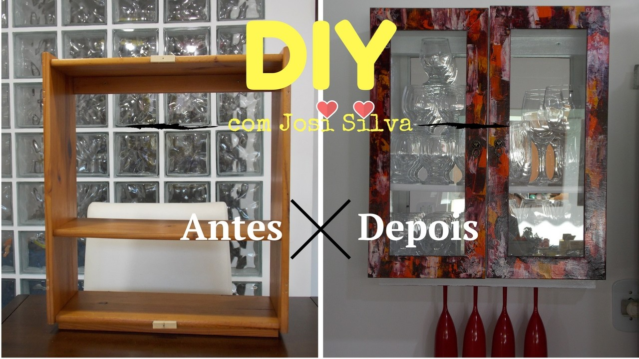 DIY-Reformando um móvel com pátina demolição e provençal  #Innova Carimbos- By Josi Silva