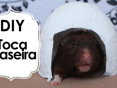 DIY-Toca caseira de papel higiênico para hamsters