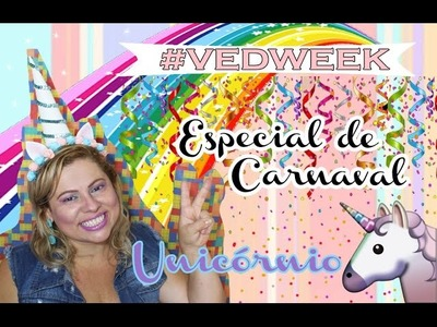 Fantasia fácil de Unicórnio: make e DIY do arco! | #Vedweek Especial de Carnaval